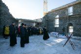 1 апреля. Митрополит Павел посетил строящийся храм в честь святого равноапостольного князя Владимира, п. Сингапай, Нефтеюганского района.