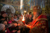 8 апреля. Встреча Благодатного огня, Воскресенский кафедральный собор г. Ханты-Мансийск