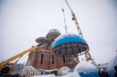 16 ноября. Чин освящения куполов и крестов строящегося Троицкого кафедрального собора г. Сургута