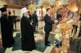 14 июня. Министр культуры РФ Владимир Мединский посетил храм в честь мц. Татианы г. Когалыма