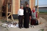 На территории строящегося храма св.архидиак.Стефана.п.Куминский.9 августа 2014г